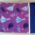 Purple Frozen Sisters Pillow Case Envelope  with Trim Children's Bedroom