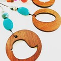 Recycled wood pendants- assorted designs