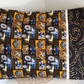 Pillow Case  with Trim Big Trucks and Chains Children's Bedroom Handmade.