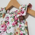 Girls Floral Flutter Sleeve Dress Size 4