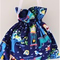 Nursery Rhyme  Drawstring Fabric Pouch, Bag, Baby Creams, Wipes, Bits and Bobs f