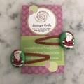 Santa hair clips