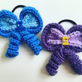 Hair Bow / Elastic / Ponytail/ Alphabet letters / Personalised