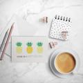 Womens Birthday Card, Geometric Pineapples Card,  HBF138