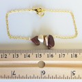 Natural Mookaite gemstone bar Bracelet ( Australian jasper Brown Healing stone )