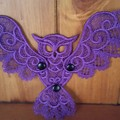 Free Standing Lace Owl