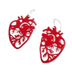 Anotomical Hearts statement Earrings