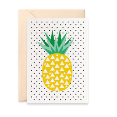 Handmade Blank Card, Geometric Pineapple Card, BLA047