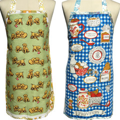 Metro Retro PUPPY DOGS or Cooking PROVERBS Vintage Tea Towel Apron.
