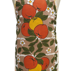 Metro Retro  Apples Tea Vintage Towel Apron  Birthday Gift