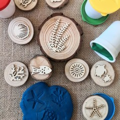 Timber Playdough Stamp Set Underwater Set