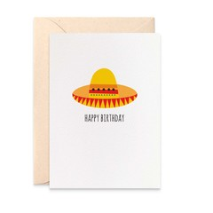 Birthday Card, Mexican Hat, Sombrero Hat, HBF175
