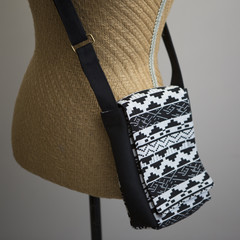 the Slim Satchel - black and white