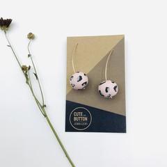 Blush Leopard Hooks - Rose Gold