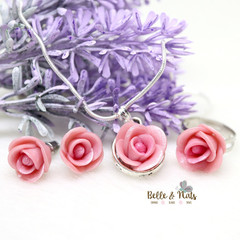 Personalised Rose Flower Jewelry Set