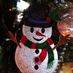 Free Standing Lace Snowman