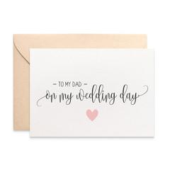 To My Dad On My Wedding Day, Wedding Card, WED066