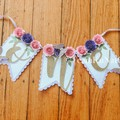 Butterfly-Theme ONE High Chair Banner