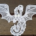 Free Standing Lace Dragon