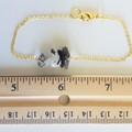 Natural Black Rutilated Quartz gemstone bar Bracelet ( Crystal healing Stone )