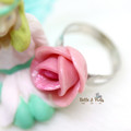 Personalised Rose Flower Ring