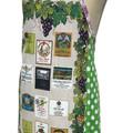 Metro Retro WEDDING ANNIVERSARIES or WINE LABELS Vintage Tea Towel Apron.