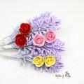 Personalised 3 Rose Flower Earrings