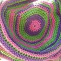 my stripey summer hat no.1 purple, green and pink. Sun hat, beach wear, sun smar