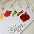 Christmas Gift Tags - Green, Red and Gold (5)