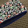 Multi-coloured soccer ball pencil case