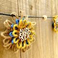 Jute Twine Paper Raffia Flower Hanging Garland Beach Style Home Decoration