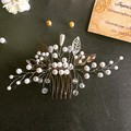 Pearls and Beads hair comb