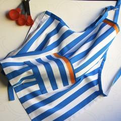 Boys or Girls apron - Stylish stripes