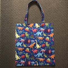 Dinosaurs library/shopping bag
