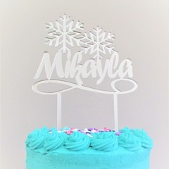 Custom Frozen Cake Topper