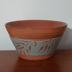 Terracotta gum leaves