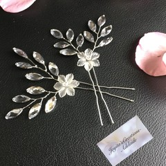 Dainty Hairpins (set of 2) - Horse eye