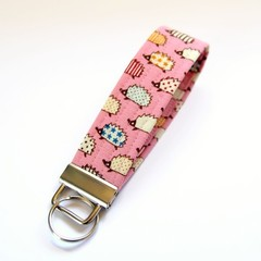 Wrist Key Fob / Keyring - Tiny Hedgehogs