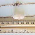 Natural Rose Quartz gemstone bar Bracelet ( Pink Crystal healing Stone )