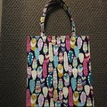 Bright feathers library/shopping bag