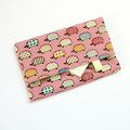 Travel Tissue Case, Pocket Tissue Holder - Hedgehogs on Pink
