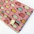 Travel Tissue Case, Pocket Tissue Holder - Hedgehogs on Pink