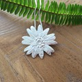 Recycled Silver Large  Flower Pendant & chain
