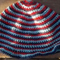 my stripey summer hat no.4 navy, red and sky blue infant size