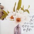 Wild rose bouquet || crepe paper flowers, handmade brisbane, bedroom decor.