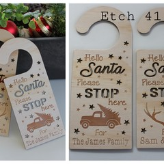 Personalised Santa Stop Door Hanger