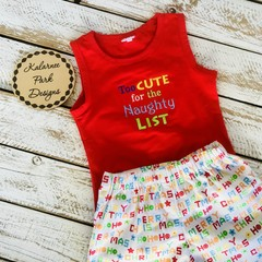 Boys Christmas Tank & Shorts Set
