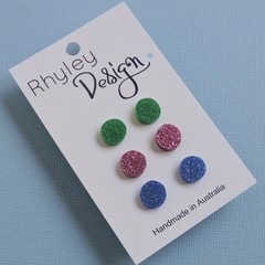 Triple Pack Stud Earrings