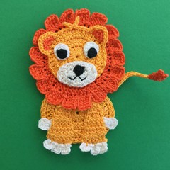 Lion Crochet Applique