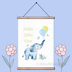 Hello Little One Elephant Printable